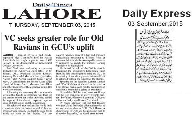 Daily Times Lahore 3 September 2015
