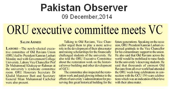 Pakistan Observer 09 December, 2014