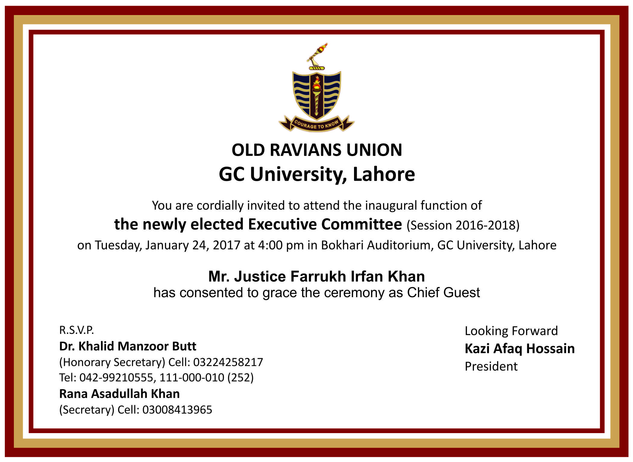 inaugural function of executive committee 2016